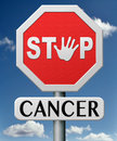 Stop cancer by prevention Stock Photos