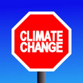 Stop Climate change sign Stock Photos