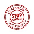 STOP COVID-19 grunge rubber stamp on white background. Quarantine coronavirus grunge framed seal stamp isolated.