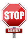 Stop diabetes Royalty Free Stock Images
