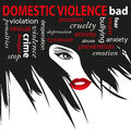 Stop domestic violence against women Royalty Free Stock Image