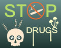 Stop drugs banner vector illustration Stock Photos
