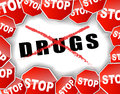 Stop drugs vector illustration of abstract background Royalty Free Stock Photos