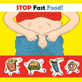 Stop eating Fast food. Royalty Free Stock Photo