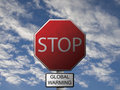 Stop Global Warming Royalty Free Stock Photography