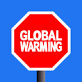Stop global warming sign Royalty Free Stock Images