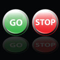 Stop and go button vector illustration Royalty Free Stock Photo