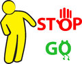 Stop and go sign illustration of is isolated on white background created in illustrator software Stock Photo