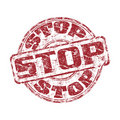 Stop grunge rubber stamp Royalty Free Stock Photo