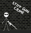 Stop gun crime Royalty Free Stock Photography