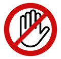 Stop hand, No entry Royalty Free Stock Photo