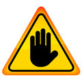Stop hand vector sign this is file of eps format Royalty Free Stock Images