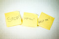 Stop! I love You! HELP ME! Royalty Free Stock Photo