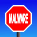 Stop Malware sign Stock Photo