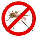 Stop mosquito sign. Royalty Free Stock Photo