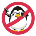 Stop Penguin Stock Photo