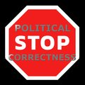 Stop political correctness sign