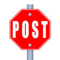 Stop Post Royalty Free Stock Images