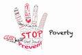 Stop poverty illustration