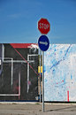 Stop road sign Royalty Free Stock Photo