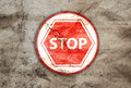 Stop rusty sign Royalty Free Stock Photography
