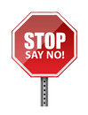 Stop say no illustration design over a white background Stock Image