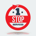 1 stop services icon. Royalty Free Stock Photo
