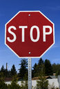 Stop sign(with cliping path) Royalty Free Stock Photography