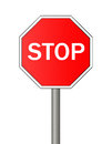 Stop sign isolated on white background Stock Images