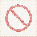Stop sign knitted vector illustration of Royalty Free Stock Photos