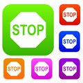 Stop sign set collection