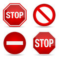 Stop sign set vector illustration Stock Photo