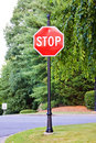Stop sign on the street Royalty Free Stock Photo