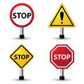 Stop sign vector illustration of Stock Photography