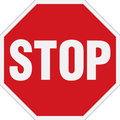 Stop sign vector illustration of the Royalty Free Stock Images