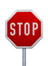 Stop sign white background Royalty Free Stock Photo