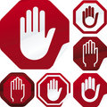 Stop signal sticker Stock Image