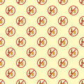 Stop signs seamless pattern prohibitive stop danger warning background vector illustration