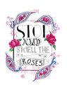 Stop and smell the roses Royalty Free Stock Photo