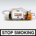 Stop smoking - cigarette bomb Royalty Free Stock Photo