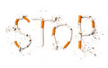 Stop smoking concept background Royalty Free Stock Photo