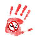 Stop smoking illustration design over a white background Stock Image