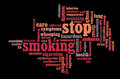 Stop Smoking info-text graphics Stock Image