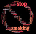 Stop Smoking info-text graphics Stock Photos