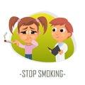 Stop smoking medical concept. Vector illustration.