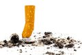 Stop smoking. muffled out cigarette Stock Photos
