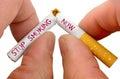 Stop smoking now Royalty Free Stock Photo