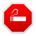 Stop smoking sign isolated over white Stock Photos