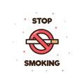 Stop Smoking. Vector illustration.