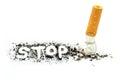 Stop smoking on white background Stock Photo